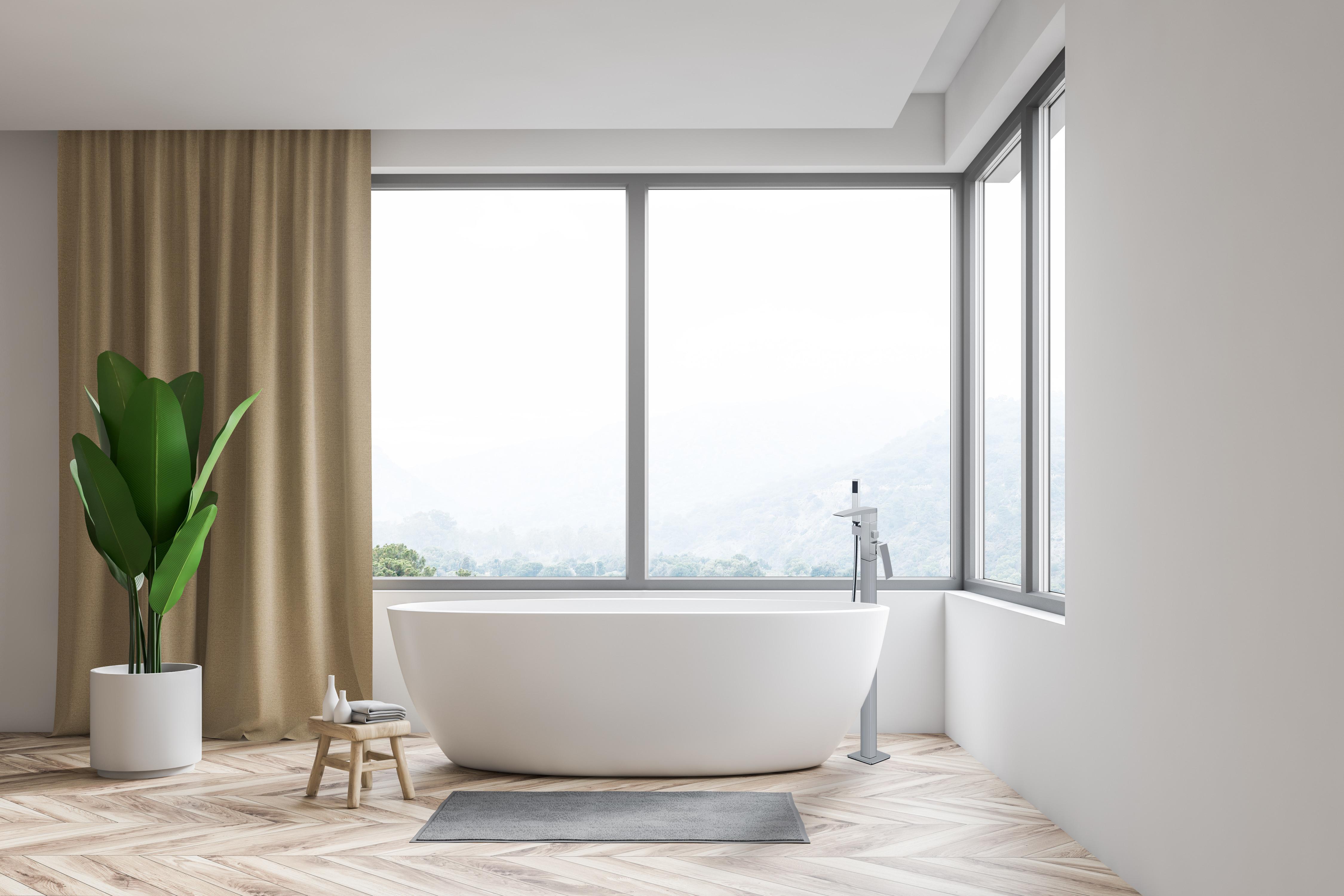 floor standing bath filler