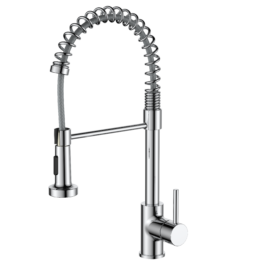 Coil deck mounted kitchen mixer