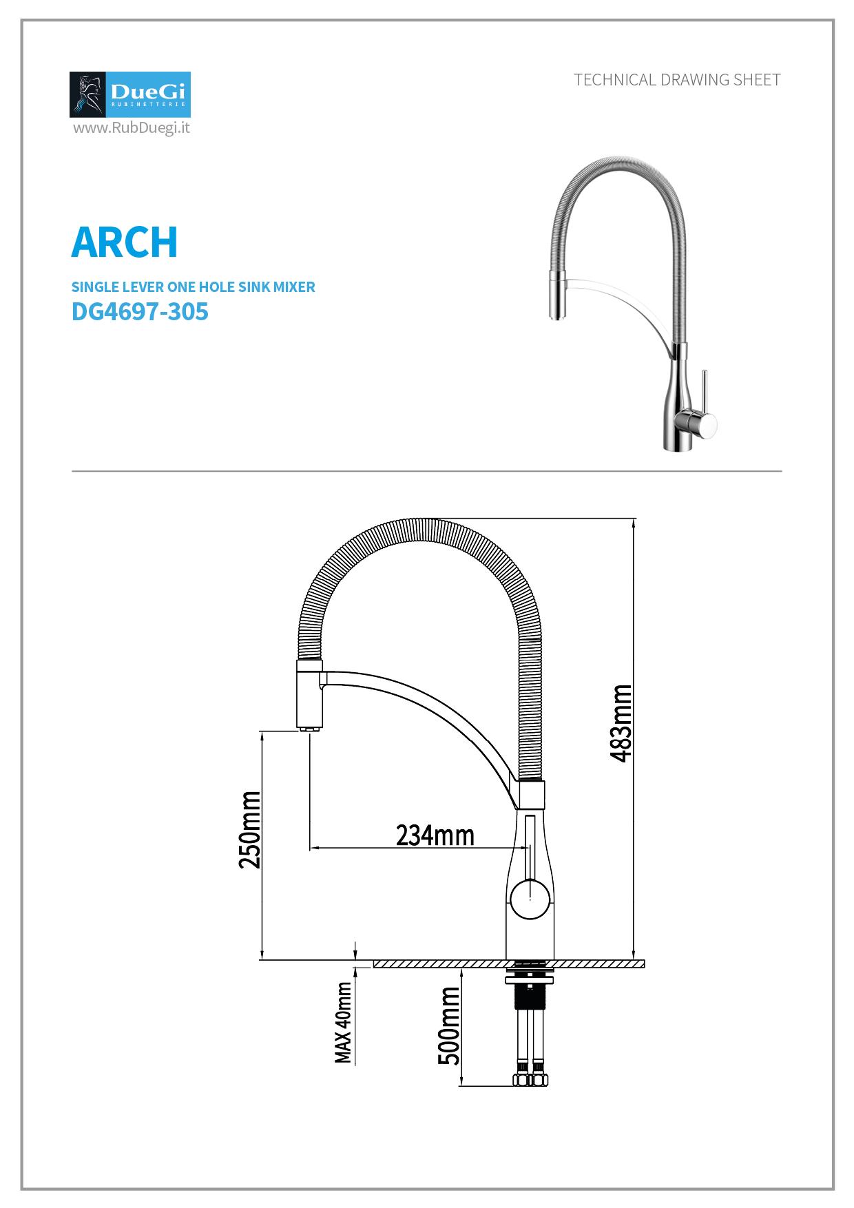 Arch kitchen mixer