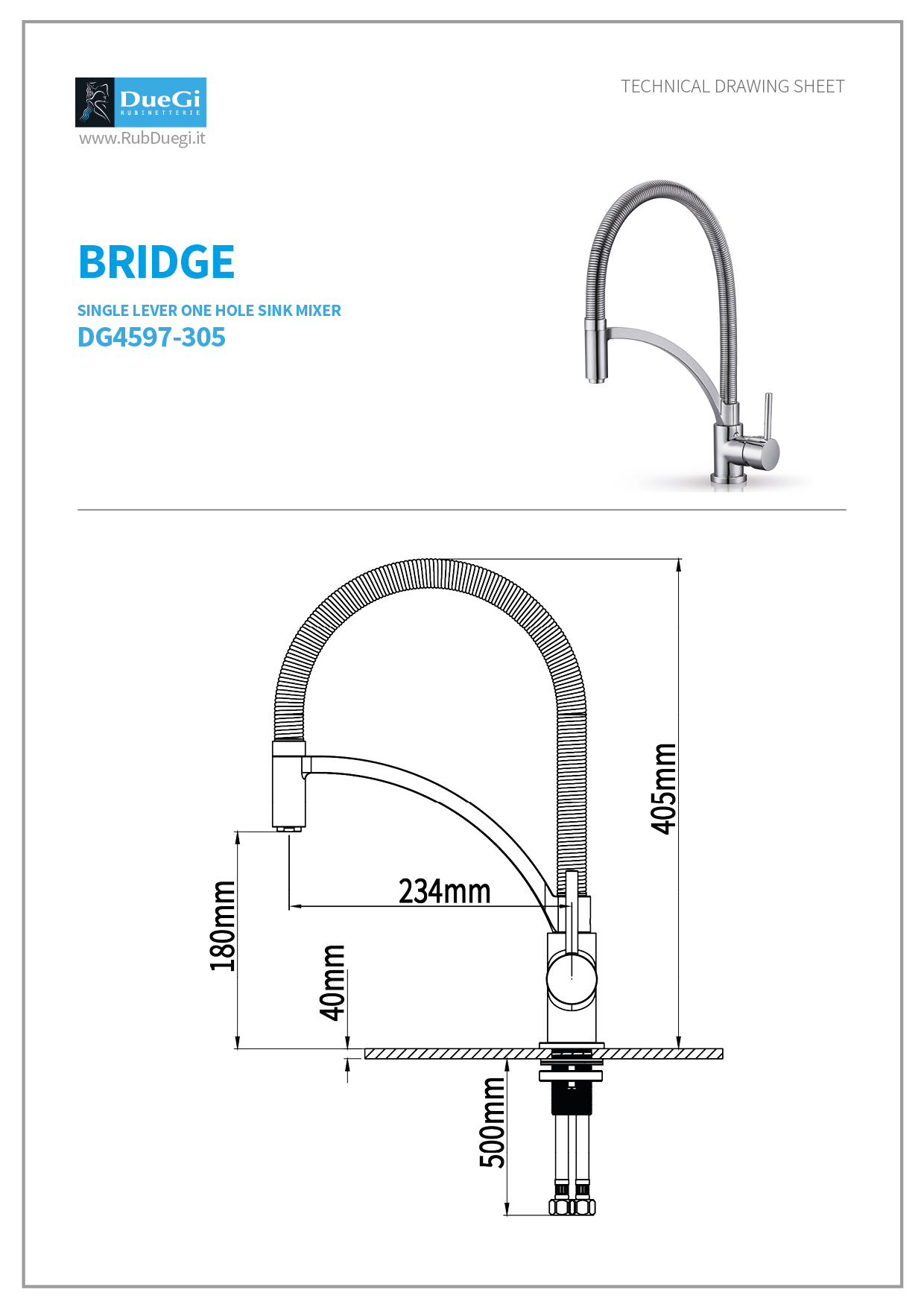 bridge kitchen mixer
