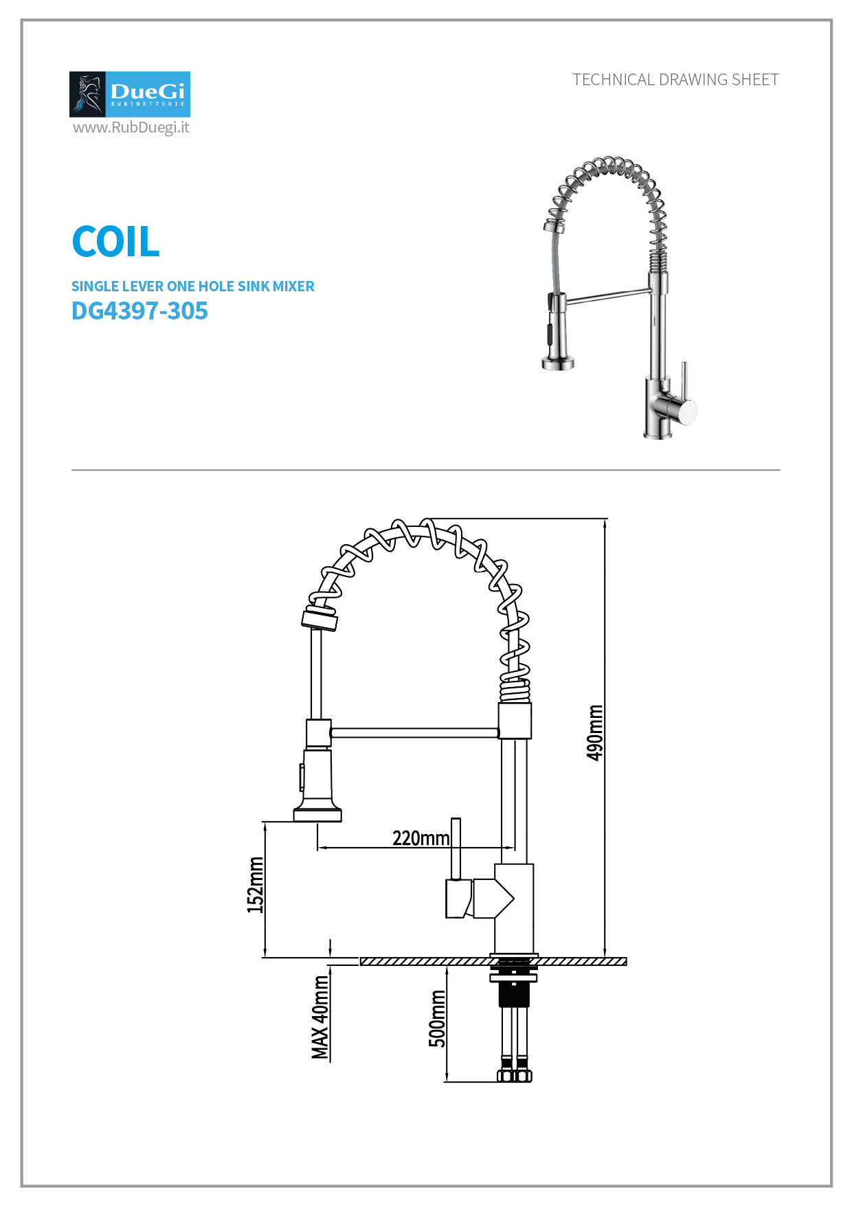 coil technical drawing