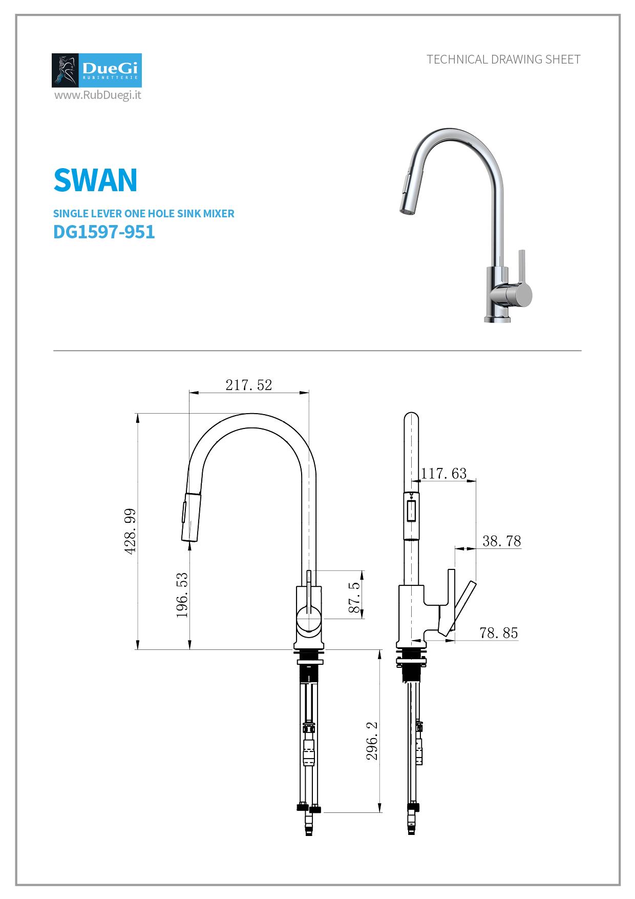 swan kitchen mixer
